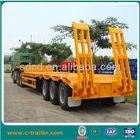 tri-axle low bed semi trailer flatbed truck dimensions