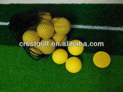 2014 Soft foam yellow practice golf balls