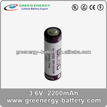 industrial lithium battery ER14505M 3.6v industrial lithium battery 2200mah aa battery