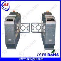 Stainless steel barrier gate door bi-directional swing security mechanical autotmatic access card gate revolving turnstile