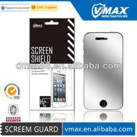 2 IN 1 for iPhone 4 mirror screen protectors oem/odm (Mirror)