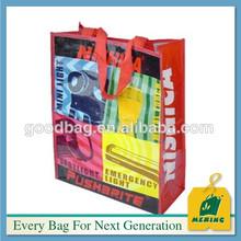 Alibabab China eco recycled bopp laminated pp non woven shopping tote bag