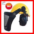 Segurança industrial capacete/industrial capacetes com viseira& earmuff