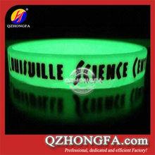 custom silicone wristband/wholesale silicone bracelet/glow silicone wrist band
