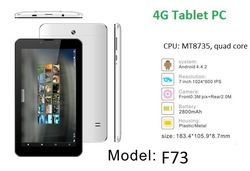 MTK8735 4G LTE tablet with 7'' IPS 1GB/8GB