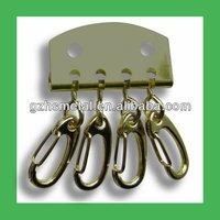 Metal made spring swivel key chain snap hook