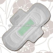 Anion function feminine sanitary products