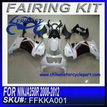 Fairing Kits For kawasaki NINJA 250R 2008-2012 PEARL WHITE&BLACK