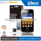 Clear anti-scratch screen protector for Samsung galaxy young s3610 oem/odm (Anti-Glare)