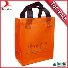 Low price loop handle plastic gift bag