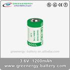 1/2aa lithium battery 3.6v 1200mAh 14250 battery
