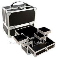 Export Wholesale Black PVC aluminum laptop Cosmetics Case