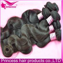 Hot sell! Clean high quality real 100% brazilian virgin hair form Guangdong Princess hair on aliexpress