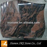 red natural stone granite sample design tombstone