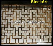 Chinese newest design idea laser cut metal screens flower wall decor art