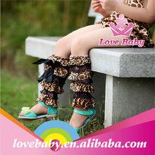 Wholesale satin leopard baby leg warmer