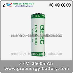 led light battery 3.6v er17505 3500mah china battery price 3.6v dry battery for ups
