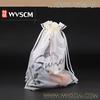 Custom made plastic shopping fashion CPE drawstring bag