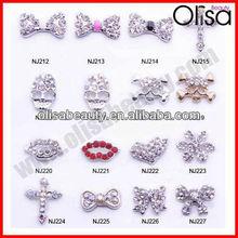 2014 Cross bow skull butterfly lip nail art nail jewelry