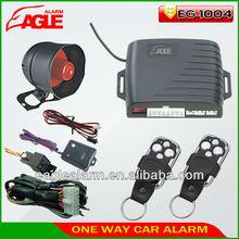 Car alarm security system 1-Way Car Alarm Protection System with 2 Remote Control auto burglar alarm system