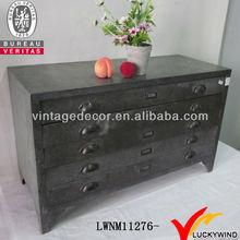 Metal living room antique corner cabinet