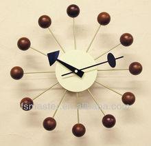 popularoriginal quality George Nelsons walnut balls clock wall clock