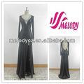 Maglia nera elegante v- scollatura abito da sera scollato abito da cocktail di moda china wholesale ragazzecaricati