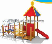 PE Board Kids Outdoor Wooden Play Equipment for Amusement