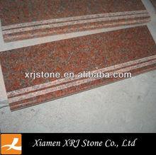 G562 maple red granite anti-slip stairs nosings