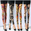 Hot Korean Girl Style 2014 Art of Comic Stretch Women Wholesale Colored Fashion Leggings