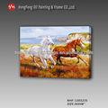 de alta calidad hechos a mano salvaje dos caballos corriendo de los animales imágenes de dibujo pintura al óleo
