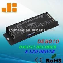 DMX Decoder, LED Driver CC 700mA, LED RGB Controller DE8010