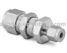 Bulkhead reducing connector,Bulkhead reducing union, compression tube fitting