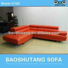 2014 lifestyle living furniture sofa ,adjustable headrest sofa C102