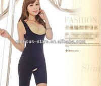 J18 LY018-50 pcs Large U-Neck Seamless Underwear Siamese girly postpartum breast care abdomen hip corset body slim shirts women