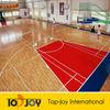Basketball Court Wood Pattern Flooring