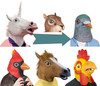 Halloween Head Mask, Animal Head Mask, Adult Maks Made of Latex Mask For Party