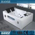 Vasche da bagno di altezza/vasca quadrata dimensioni/due persone hs-b287 vasca da bagno