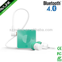 Colorful in-ear portable clip Bluetooth stereo headset for iPhone 5S / iPhone 5C