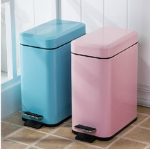 rectangle shape foot pedal dustbin whole colorful outlook