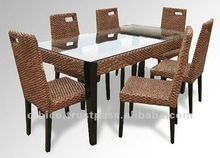 Dining table set of 7pcs/ 2012 Kitchen Furniture New Designs / 2012 Modern Style Dining Table Set