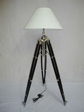 wood tripod lamp /corner lamp /tripod lamp