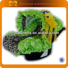 smeraldo con tessuto damascato sede di automobile del bambino copertura allenatore seggiolino per auto copre fiore decorativo con cintura per i bambini