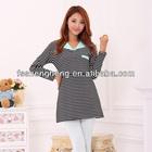 Weekend casual top wholesale office maternity wear breastfeeding long t-shirt AK003