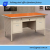 steel office desk with lockable drawers