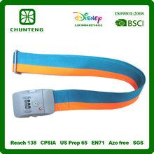 Custom High Quality 5cm Luggage Bag Belt with Lock