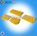 D155 construction equipment pièces de rechange seau lames bulldozer double biseau coupe bord / niveleuse lames tranchants