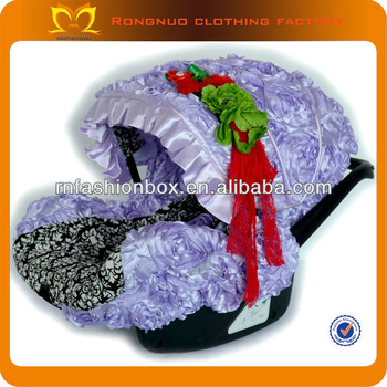 Wholesal Baby Car Seat Cover Purple Damask Patterns Satin Graco Car Seat Covers 2014 Latest Car Seat Covers