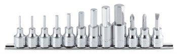 "Square nut sockets Hex Socket Bit High Quality 3/8""(9.5mm)sq. 9pcs set"
