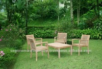 Outdoor Garden Teak Wooden Stacking Table and Chairs Set